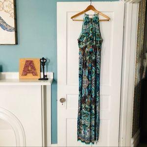 Beautifully Patterned Maxi Dress NWT